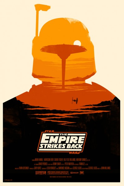 The Empire Strikes Back by Olly Moss