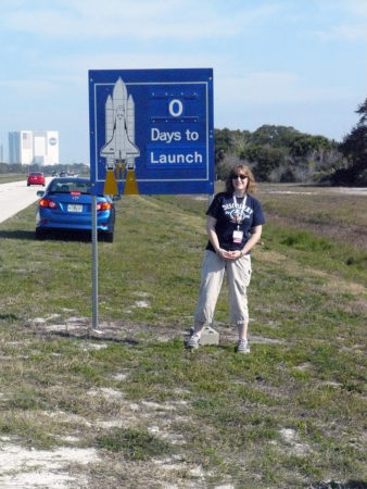 Danielle Rose, Fleet Captain, on Launch Day of STS-133, February 24, 2011