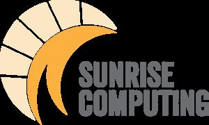Sunrise Computing logo design, February 2017