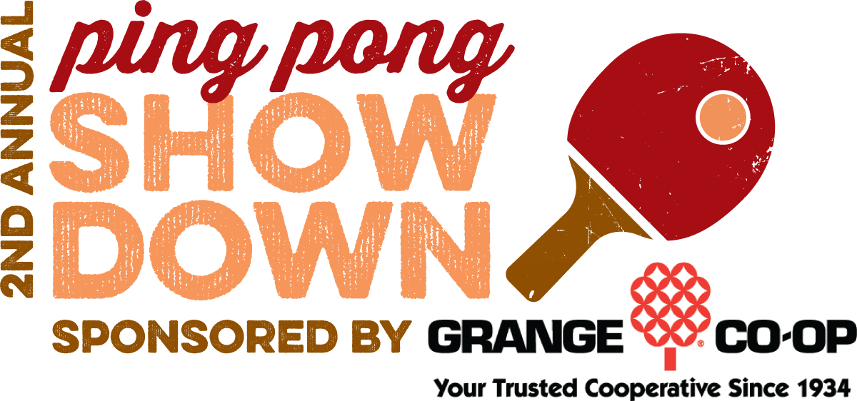 Ping Pong Showdown, logo design with title sponsor, March 2017