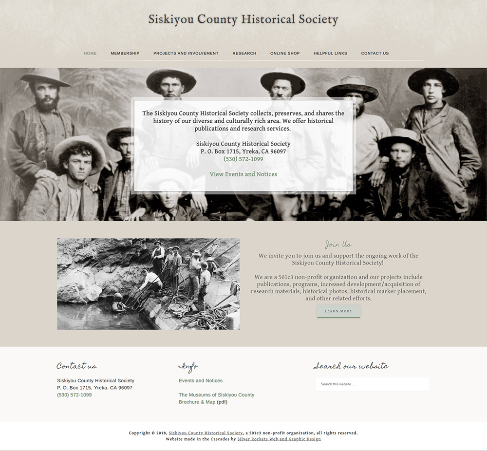Siskiyou County Historical Society by Silver Rockets